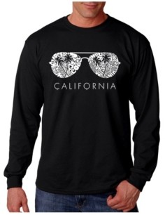 LA Pop Art Men's Word Art - California Shades Long Sleeve T-Shirt