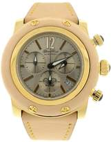 Glam Rock Women Miami Chronograph 46mm Beige Leather Watch