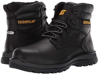 Caterpillar Fairbanks Steel Toe (Black Leather) Men's Work Boots