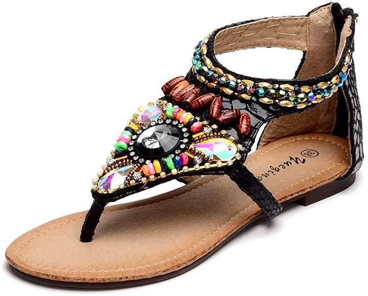 8a5434243452 Rhinestone Flat Sandals - ShopStyle Canada
