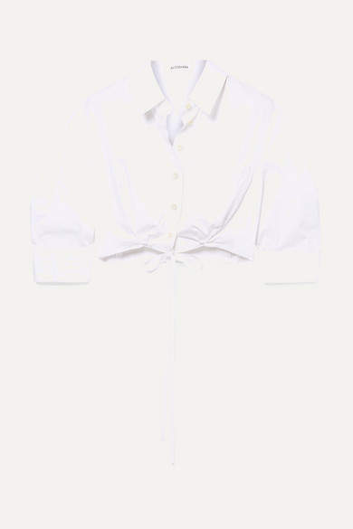 Altuzarra Rosa Cropped Cotton-poplin Shirt - White