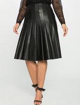 ELOQUII Plus Size Studio Faux Leather Trumpet Skirt