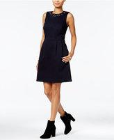 Tommy Hilfiger Embellished Fit & Flare Dress, Only at Macy's