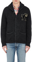 RRL Men's Stockinette-Stitched Cotton Shawl Cardigan