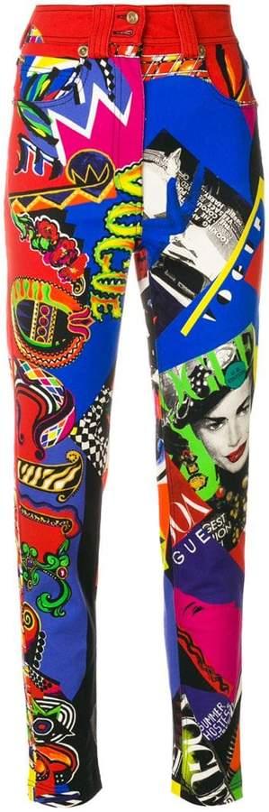 Versace printed skinny jeans