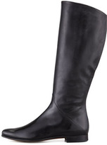 Gravati Low-Heel Side-Zip Tall Boot, Black