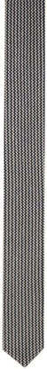Giorgio Armani Blue and White Double Knit Tie