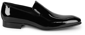 Saks Fifth Avenue Patent Leather Smoking Slippers