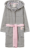 Joules Little Joule Children's Striped Dressing Gown, French Navy