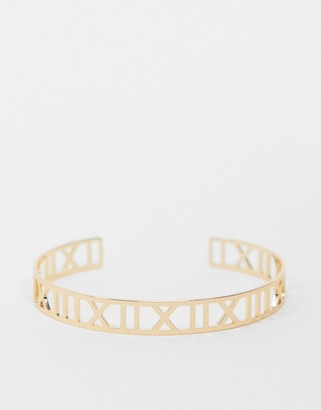 Topshop bangle with cut out numeral detail