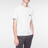 Paul Smith Men's Slim-Fit White Embroidered Rainbow-Motif T-Shirt