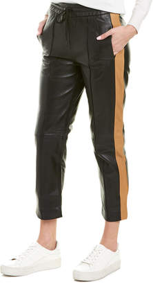 Scotch & Soda Sport-Inspired Leather Pant