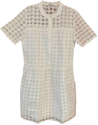 Au Jour Le Jour White Cotton Dress for Women