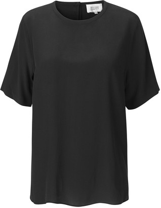 Second Female - Tonga Silk T-Shirt - silk | black | medium - Black/Black