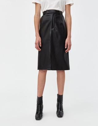 VIDEN Women's Pelt Pencil Skirt in Black, Size 6 | Polyurethane/Polyester