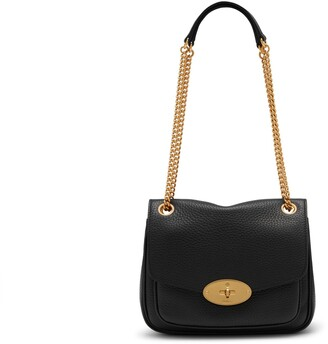 Mulberry Small Darley Shoulder Bag Black Heavy Grain