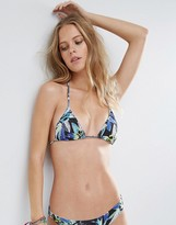 Asos Mix and Match Micro Triangle Bikini Top In Rainforest Print