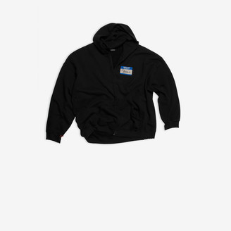 Balenciaga My Name Is Demna Zip-Up Hoodie