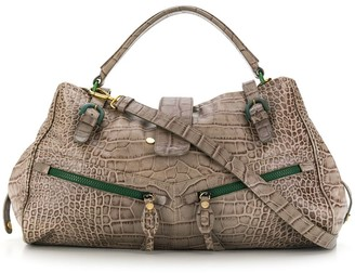 Moschino Pre Owned 2000's Crocodile Effect Tote