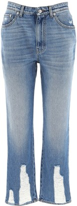Alexander McQueen Cropped Boyfriend Fit Jeans