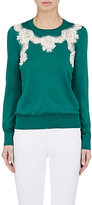 Dolce & Gabbana Women's Lace-Inset Sweater-GREEN