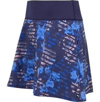 Puma Womens PWRShape Floral Golf Skirt Peacoat