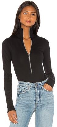 Marissa Webb Zip Front Bodysuit