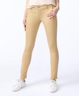 VIP Jeans Women's Denim Pants and Jeans - Tan Slit-Pocket Skinny Jeans - Juniors