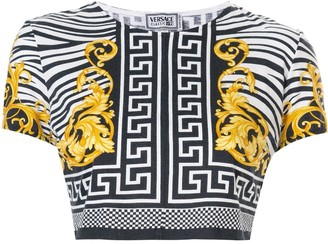 Versace Pre Owned Greek Key Baroque T-shirt