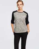 Ann Taylor Textured Mixed Media Top