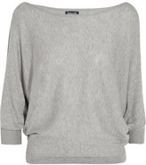 Splendid Bailey Cutout Stretch-knit Top - Light gray