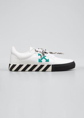 Off-White Men's Arrow Vulcanized Canvas Sneakers