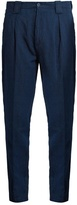 Etro Tapered leg linen-blend trousers
