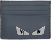 Fendi Blue 'Bag Bugs' Card Holder