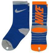 Nike Boys 2 Pack Striped High Crew Socks