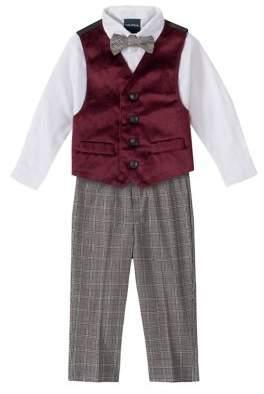 Nautica Baby Boy's 4-Piece Bow Tie, Vest, Shirt & Pants Set