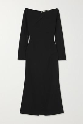 Roland Mouret Romolo Off-the-shoulder Stretch-crepe Midi Dress - Black