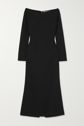 Roland Mouret Romolo Off-the-shoulder Stretch-crepe Midi Dress