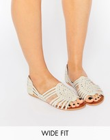 Asos JESPER Wide Fit Leather Summer Shoes