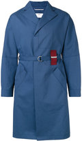 Oamc tartan detail trench coat - men - Cotton - M