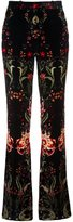 Roberto Cavalli velvet flared trousers - women - Silk/Cotton/Viscose - 40