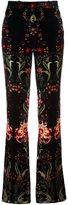 Roberto Cavalli velvet flared trousers - women - Viscose/Cotton/Silk - 40