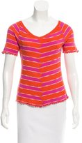M Missoni Striped Short Sleeve Top