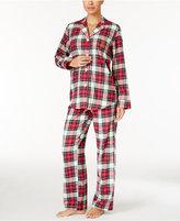Lauren Ralph Lauren Brushed Twill Notch Collar Pajama Set