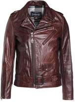 Schott Made In Usa Motorcycle Jkt Leather Jacket Brown