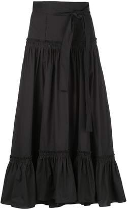 Proenza Schouler Cotton Poplin Tiered Skirt