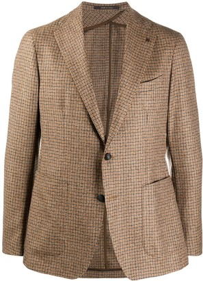 Tagliatore Check Patterned Knitted Blazer