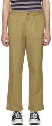 Noah NYC Beige Single-Pleat Chino Trousers