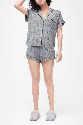 UGG Amelia Short Sleeve Top & Shorts 2-Piece Pajama Set