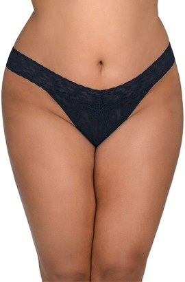 Hanky Panky Original Rise Signature Lace Plus-Size Thong